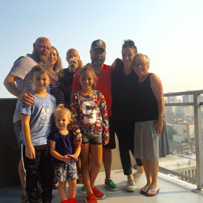 The Chicago Send-Off Crew From our apartment balcony