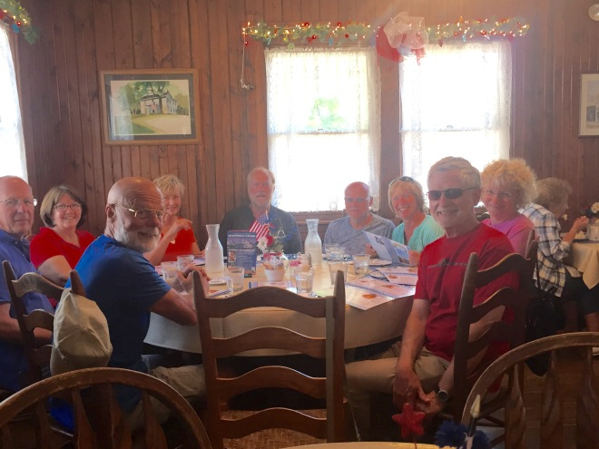 Group lunch at the Blue Owl with new friends!