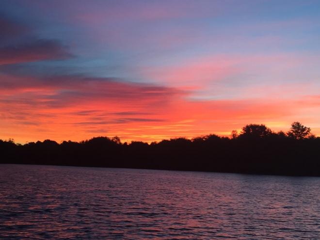 Sunrise at Little River Diversion Channel.