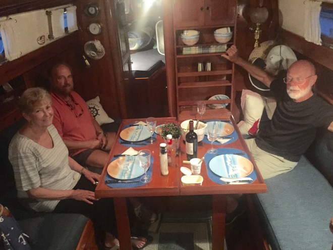 Best dinners are on the boat.