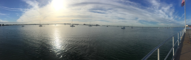 Boca Ciega Bay at Gulfport FL.  Great place, slightly weird.