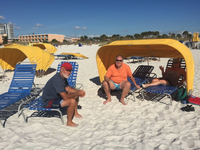 At the St. Petersburg beach. Also enjoyed Passe-a-Grille beach.